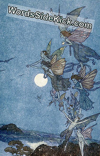'Elves and Fairies,' een illustratie voor 'The Tempest,' door Edmund Dulac (1882-1953)
