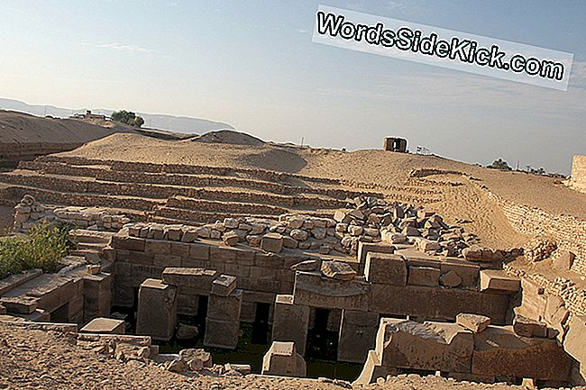 Site van Abydos in Egypte.