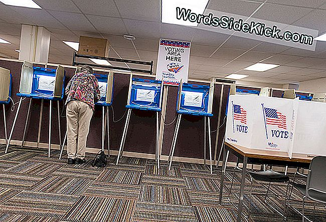 MINNEAPOLIS, MN - 23 SEPTEMBER: Een vrouw stemt vroeg in het Downtown Early Vote Centre op 23 september 2016 in Minneapolis, Minnesota. Inwoners van Minnesota kunnen elke dag in de algemene verkiezingen stemmen tot de verkiezingsdag op 8 november. (Foto door Stephen Maturen / Getty Images)