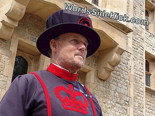 De Yeomen Warders, ook bekend als Beefeaters, bewaken de Tower of London.
