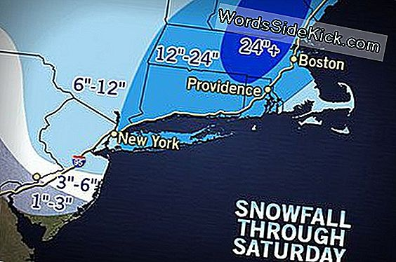Blizzard Naar Slam Long Island, Windswept Snow Nyc