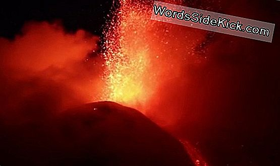 Mount Etna Erupts I Fiery Display