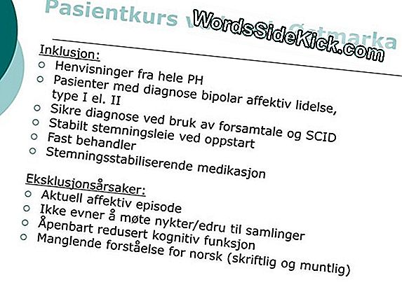 Bipolar Lidelse: Symptomer, Diagnose Og Behandling