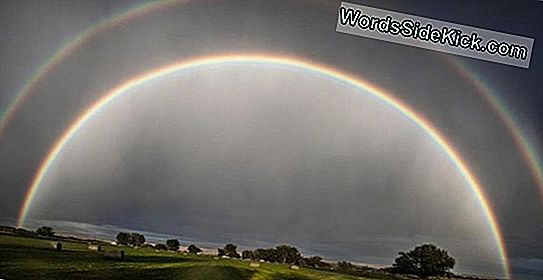 Amazing Photo: Double Rainbow Yli Wyoming