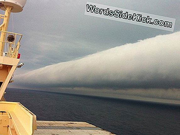 Bizarre, Giant Tubular Cloud Rolling Across The Sea (Photo)