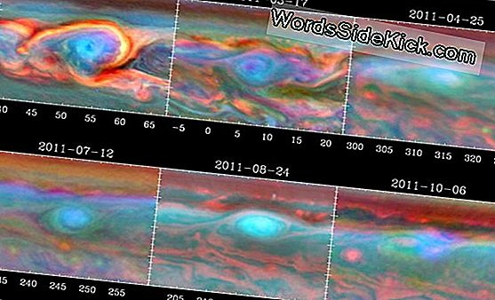 Swirling, Spinning Clouds Set From Space