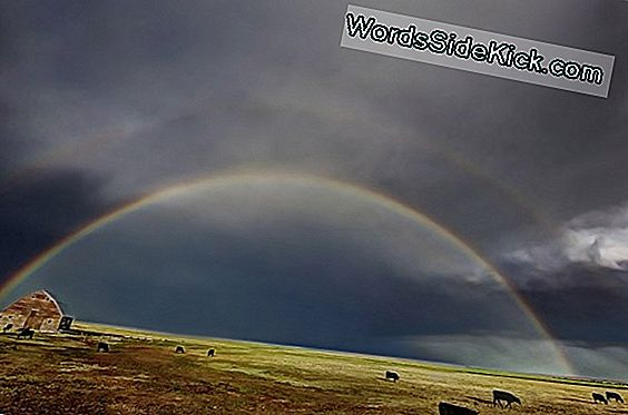 Hull Photo: Lightning & Double Rainbow Over Badlands